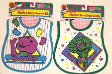 Vintage Playskool Barney Baby Bop Bib 1993 The Lyons Group Easy Eatin