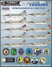 1/48 Furball F9F-8 Colorful Gray & White Cougars for the Kittyhawk kit