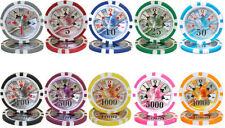 NEW 500 PC Ben Franklin 14 Gram Clay Poker Chips Bulk Lot Select Denominations