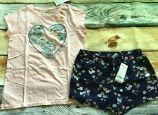 Gymboree 10 12 Set Mix N Match Earth Day Flower Heart Top Knit Shorts NWT Outlet