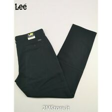 Jeans Lee BROOKLYN CHINO Uomo L453FW01 BLU NOTTE STRETCH Regular FIT ZIP FLY