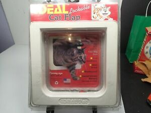 """NEW IN PACKAGING - IDEAL Lockable Cat Flap - 6.25"""" x 6.25"""" Opening"""