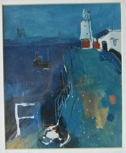 SIMON POOLEY SIGNED PRINT 'PIER AND LIGHTHOUSE' CORNWALL