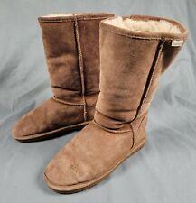 Bearpaw 612w Emma Tall Brown Size 9 Womens Suede Sheepskin Wool Lined Boots