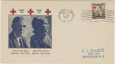 USA  1931  FDC  Red Cross issue   Elliott Cachet cover good condition