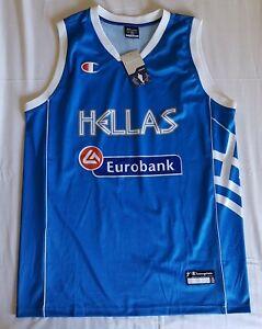 Greece 2009 - 2014 FIBA Eurobasket basketball jersey, Champion, Size XXL, BNWT