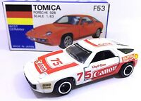 MADE IN JAPAN TOMY TOMICA F53 PORSCHE 928 CANON RALLY RACING 1/63 DIECAST CAR