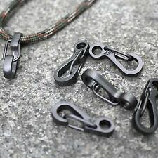 10Pcs Paracord Mini Carabiner Snap Spring Clips Hook Keychain EDC Survival Tool