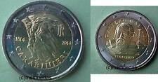 Italien 2x2 Euro Gedenkmünzen 2014 Carabinieri + Galileo Galilei commemorative