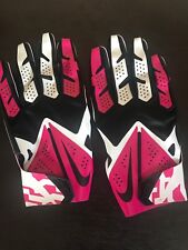 Nike Vapor Fly NFL Issued Breast Cancer Football Gloves Size XXL