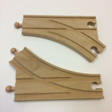Lot of 2‼ Wooden 2-Way Switch Train Track Reversible • Works w/ Thomas Brio Etc