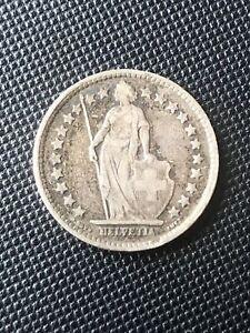 1920 B Switzerland Silver 1/2 Franc Coin  Swiss Half Franc