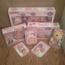 NEW~FISHER PRICE LITTLE BUTTONS BABY GIRL LOT~7 ITEMS~PINK/PURPLE/TEAL/WHITE