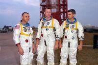 New 5x7 NASA Photo: Astronauts Gus Grissom, Ed White & Roger Chaffee of Apollo 1