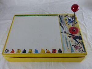 Ancien jeu MOTO-CROSS aimanté ASSEMBLO AIMANTO + boite et fonctionnel BP ENERGOL