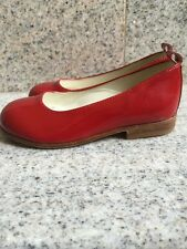 Dianella Bimbi Patent Leather Dressy Shoes Girls Red Size 22 (US 6-6.5) Italy