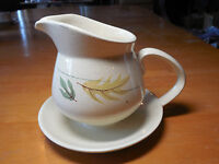 Franciscan CA USA AUTUMN Gravy Boat with attached Underplate