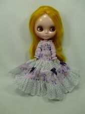 Blythe Outfit Handcrafted long sleeve dress basaak doll # 790-73