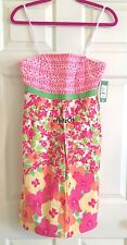 NWT NEW LILLY PULITZER BETSEY DRESS CLASSIC WHITE FALLING FOR YOU FLORAL 8 $198