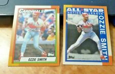 Ozzie Smith 1990 Topps Baseball Card Lot Of 2 St. Louis Cardinals #400 & #590
