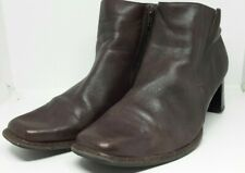7b62843141b Caprice Dark Brown Soft Leather Lined Zipped Ankle Boots Size UK 5.5