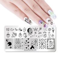 NICOLE DIARY Nagel Stempel Schablone Nail Art Stamping Plates Stern Herz Dekor