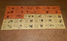 Vintage MONOPOLY Chance & Community Chest Cards 1936 REPLACEMENT Game Pieces