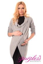 Purpless Maternity Pregnancy Nursing Sweater Cardigan Size 8 10 12 14 16 18 9005 Light Gray 12/14