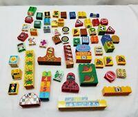 Lego Duplo Building Brick Toy Lot Picture Tile Disney Animal Sign Bug Tool Wheel