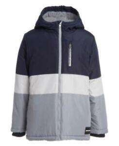 Calvin Klein Boys' Hooded Colorblock Utility Jacket, Gray, Size XL, $120, NwT