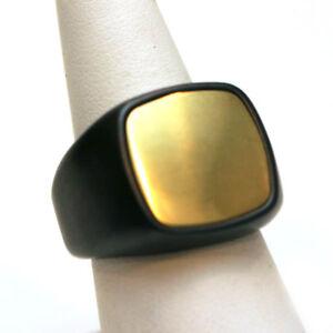 DAVID YURMAN NEW Mens 18K Gold & Titanium Cushion Signet Ring 9