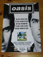 OASIS - 1998 Australia Tour - NOEL LIAM GALLAGHER - Laminated Promo Poster