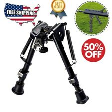 "Hunting Rifle Bipod 6"" to 9"" Adjustable Spring Return Sniper Sling Swivel Mount"