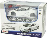 Maisto Lamborghini Gallardo LP 460-4 White Metal Die cast Model Kit Scale 1:24