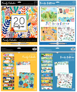 2021 Family Organiser 5 Columns Calendar Planner Month to View Note Pad & Pen