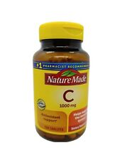 Nature Made Vitamin C 1000 mg Tablets, 100 Count Support  Immune System 03/2024