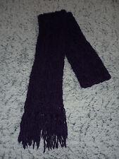 écharpe en laine longue violet foncé chaude pour l'hiver