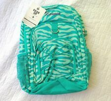 "New! Pottery Barn Teen GEAR UP girls BACKPACK monogram "" LAUREN ""  teal green"