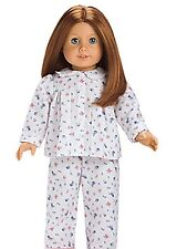 American Girl Molly s Friend Emily s 2-Pc Floral Print Warm Flannel Pajamas MIB
