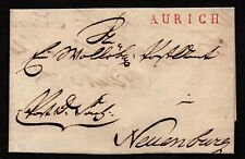 $German Stampless Cover, Aurich-Neuenburg, neat seal