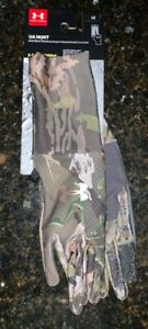 Under Armour UA Hunt Storm Womens Liner Gloves Water Repellent Hunting, Sz Large