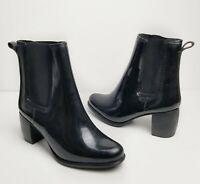 Jeffrey Campbell Black Clima Chelsea Rain Boots Women Size 8