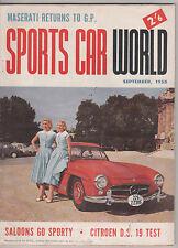 Sports Car World 1958 Sep Tornado  Aston Martin Cooper Maserati Citroen DS19 V3/