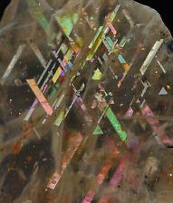2.6cm RAINBOW LATTICE SUNSTONE from Australia - Beautiful Rare New Find 36452