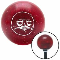 White Me Gusta Red Metal Flake Shift Knob with 16mm x 1.5 Insert matchless tpi