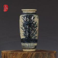 China old antique Porcelain YUAN Blue & White Bamboo Wax gourd vase