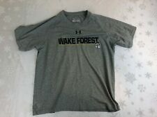 Wake Forest Under Armour Gray Tech T-Shirt, Youth Large, 100% Polyester