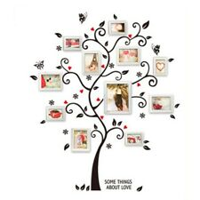 Large Photo Frame Family Tree Removable 3D Wall Stickers Art Decal Home UK OqRnV