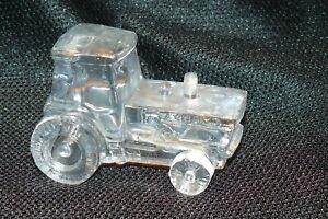 Vintage 1996 Boyd Art Glass Tractor Figurine #29 Crystal Carnival EUC