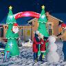 7.5 Foot Christmas Tree Sugar Cane Gift Box Air Blown Inflatable Yard Decoration